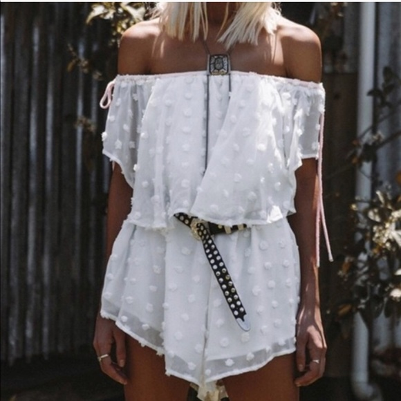 7a89f038778 Sabo Skirt White Polka Dot Playsuit. M 5ae0de173b16089faf06db40